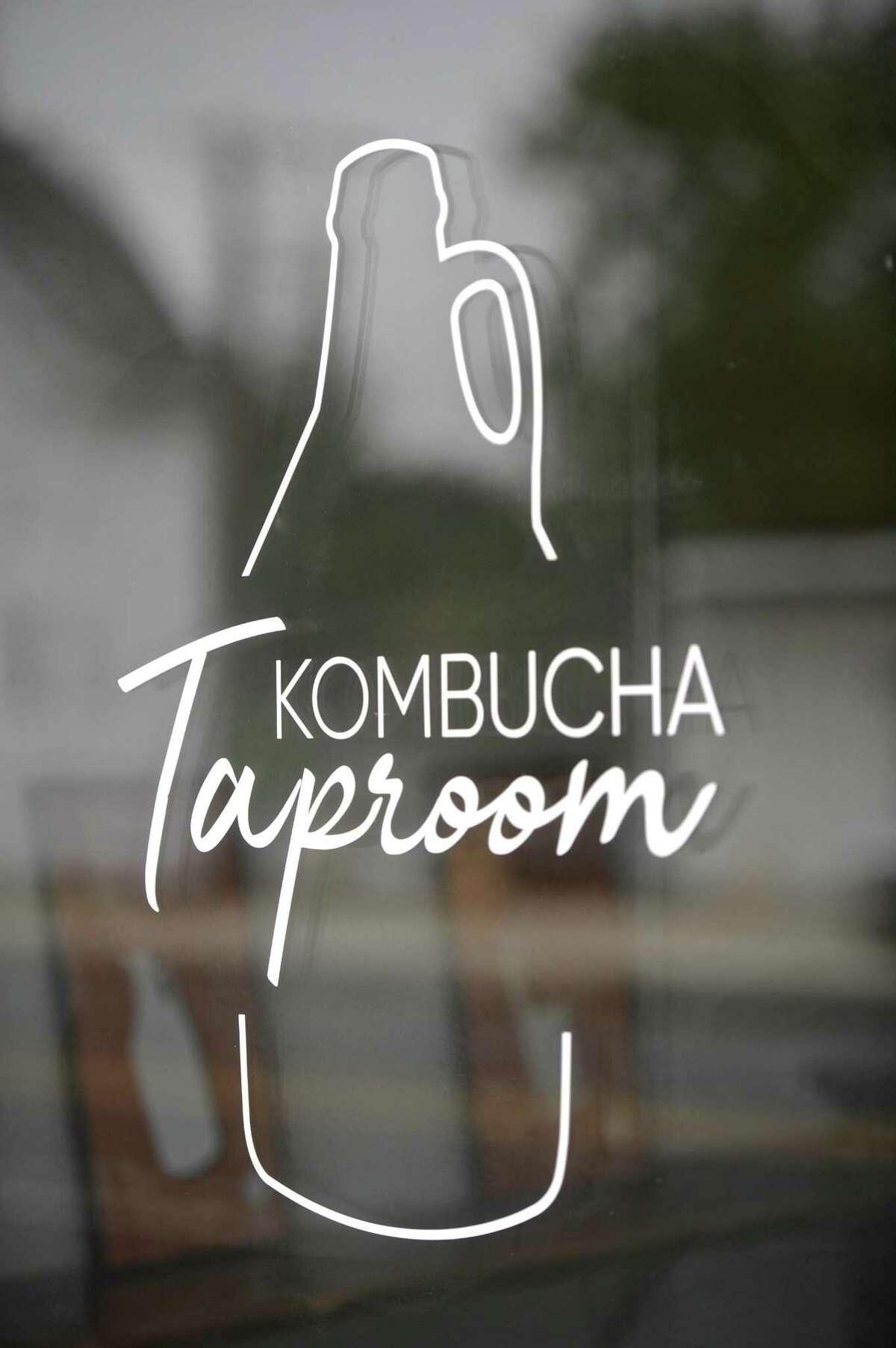 Window for the new Cross Culture Kombucha taproom in Danbury. Wednesday, September 12, 2018, in Danbury, Conn.