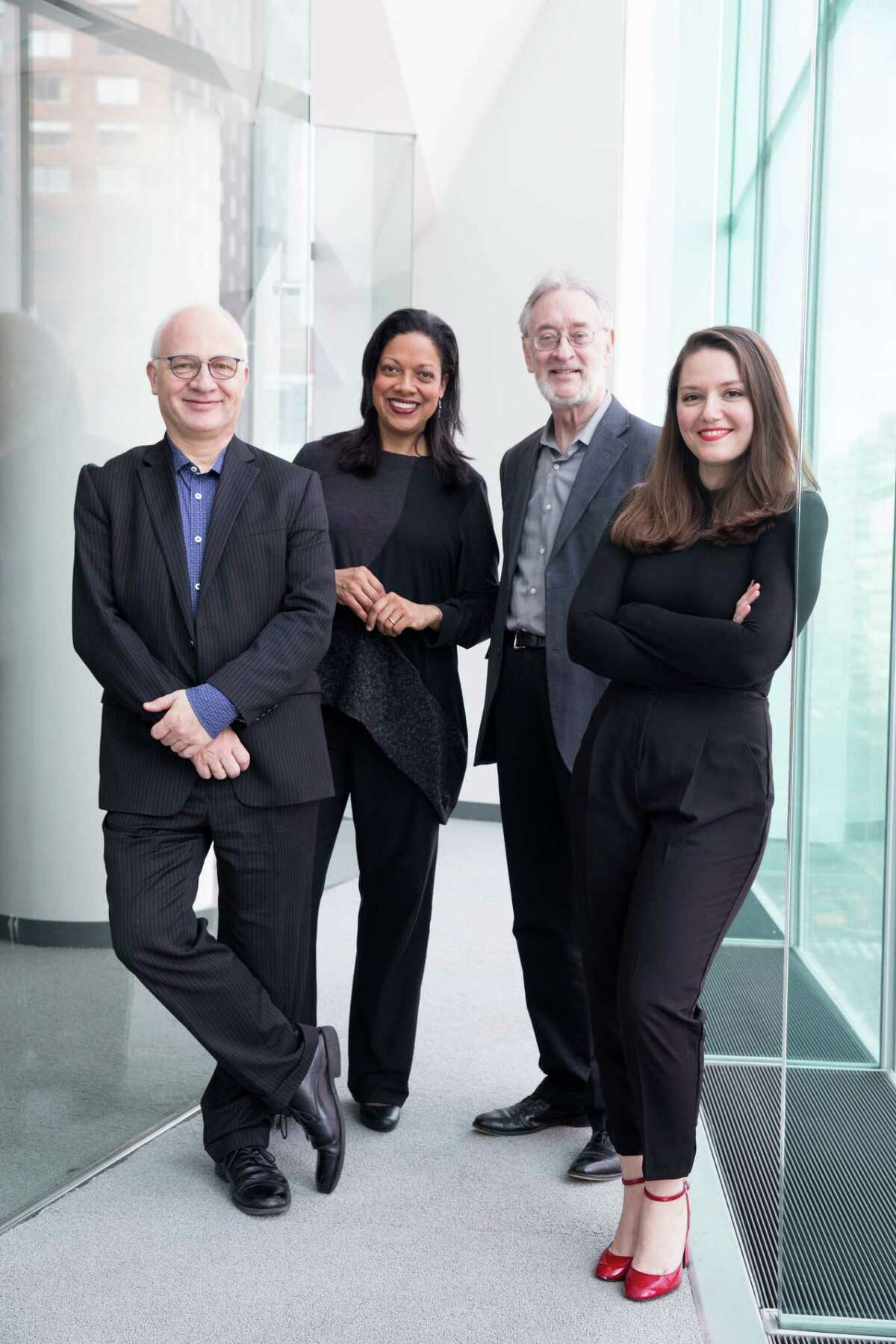 Members Juilliard String Quartet: Astrid Schween, Ronald Copes, Roger Tapping, Areta Zhulla on Monday, February 12, 2018.