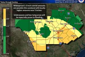 South Central Texas is under a flash flood watch as meteorologists expect 1-3 inches of rain to hit already saturated ground.