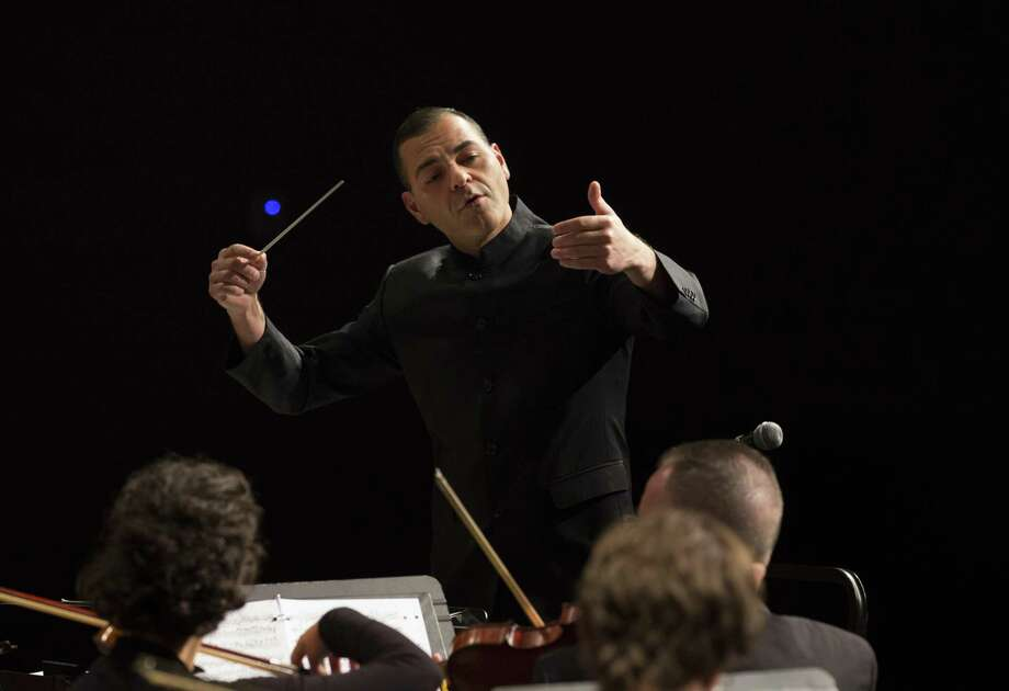 Dr. Jacob Sustaita, new Music Director and Conductor, for the Conroe Symphony Orchestra, made his conducting debut with the Conroe Symphony Orchestra at the group's season-opening concert on Sept. 8, 2018 at Conroe High School. Photo: Photo By Brad Meyer