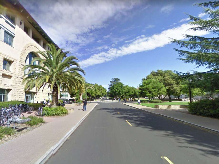 "Google images of Serra Mall on the Stanford campus. The mall will be renamed ""Jane Stanford Way,"" after the university co-founder. Photo: Google Maps"