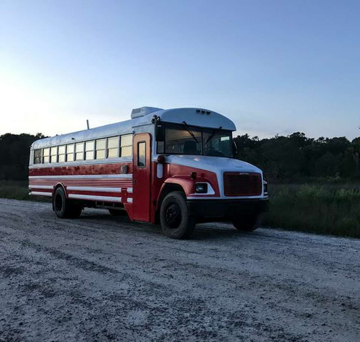 The Wonderland Bus, converted into a home by Skoolie Homes.