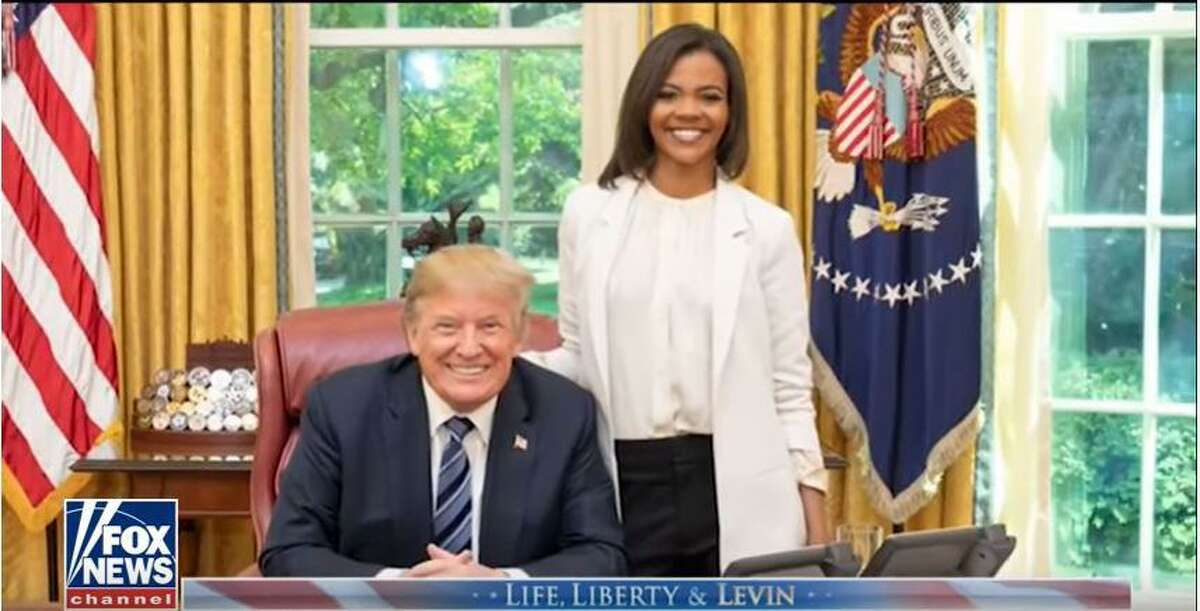 Stamford native and conservative activist Candace Owens met with President Trump in the Oval Office in May.