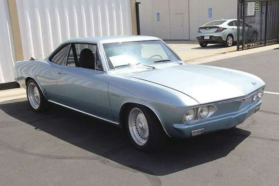 Corvairs were the only mass-produced American passenger cars featuring rear-mounted, air-cooled engines. This 1965 Chevy Corvair Corsa was on display at the cruise-in. (Photo by Heidi Van Horne)