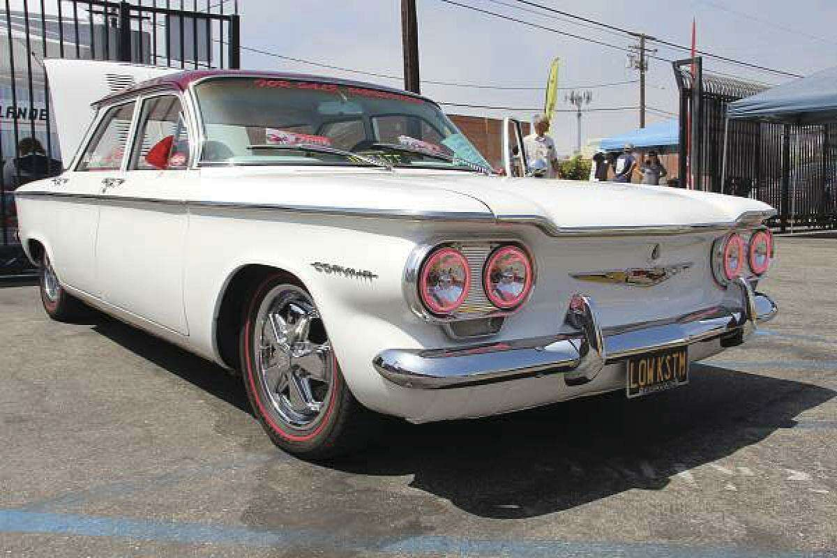 This 1960 Corvair Custom was on display on the South Coast Corsa's