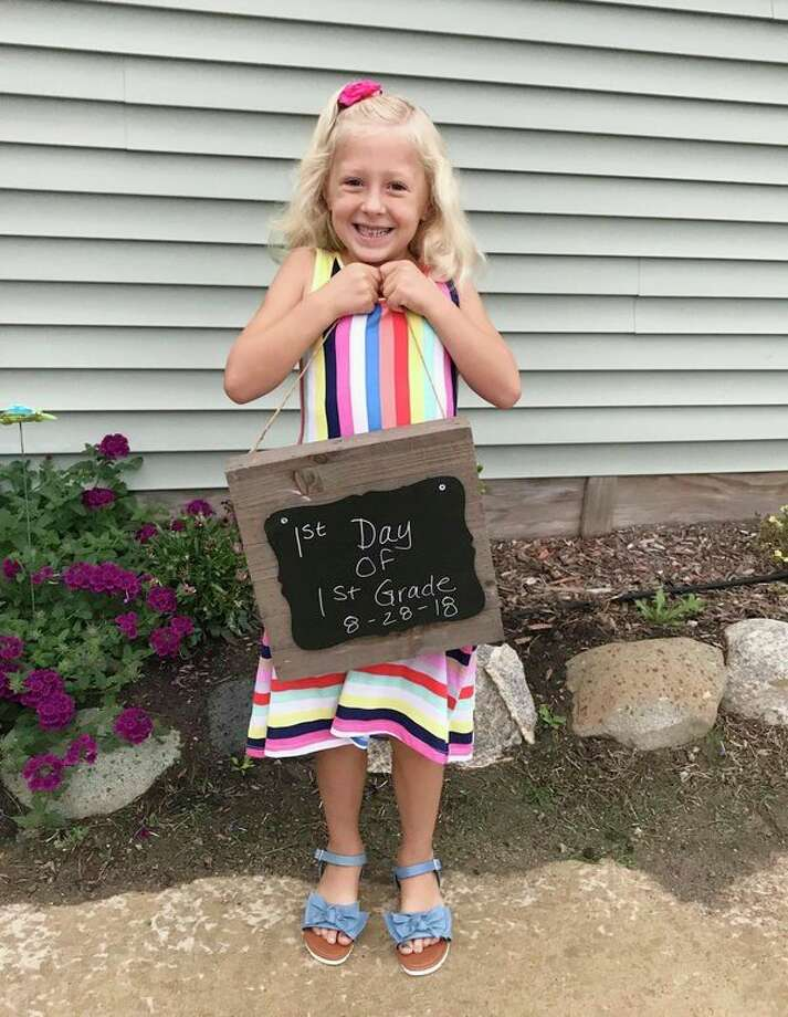 The Huron Daily Tribune, once again, rolled out a Back-to-School photo contest. We asked readers to submit a photo of their child or children on their first day of school. This year's winner was Julia Polega, submitted by Marlena Polega, posing with a big, bright smile before her first day of first grade. She will receive a $25 Visa gift card. Thanks to all of those who participated! (Photo submitted by Marlena Polega)