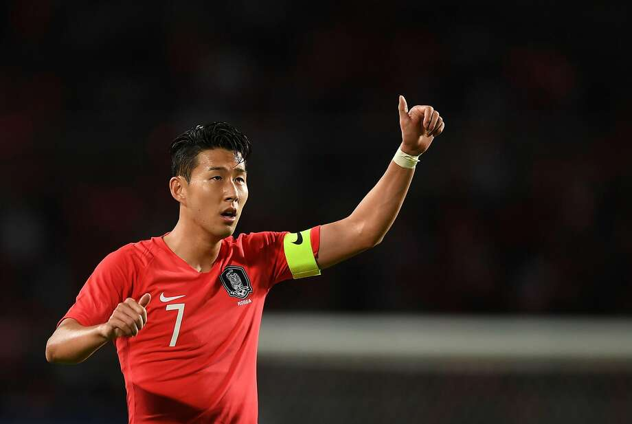 Son Heung-min led South Korea to gold at the Asian Games last month, earning him exemption from military service. Photo: Jung Yeon-je / AFP / Getty Images