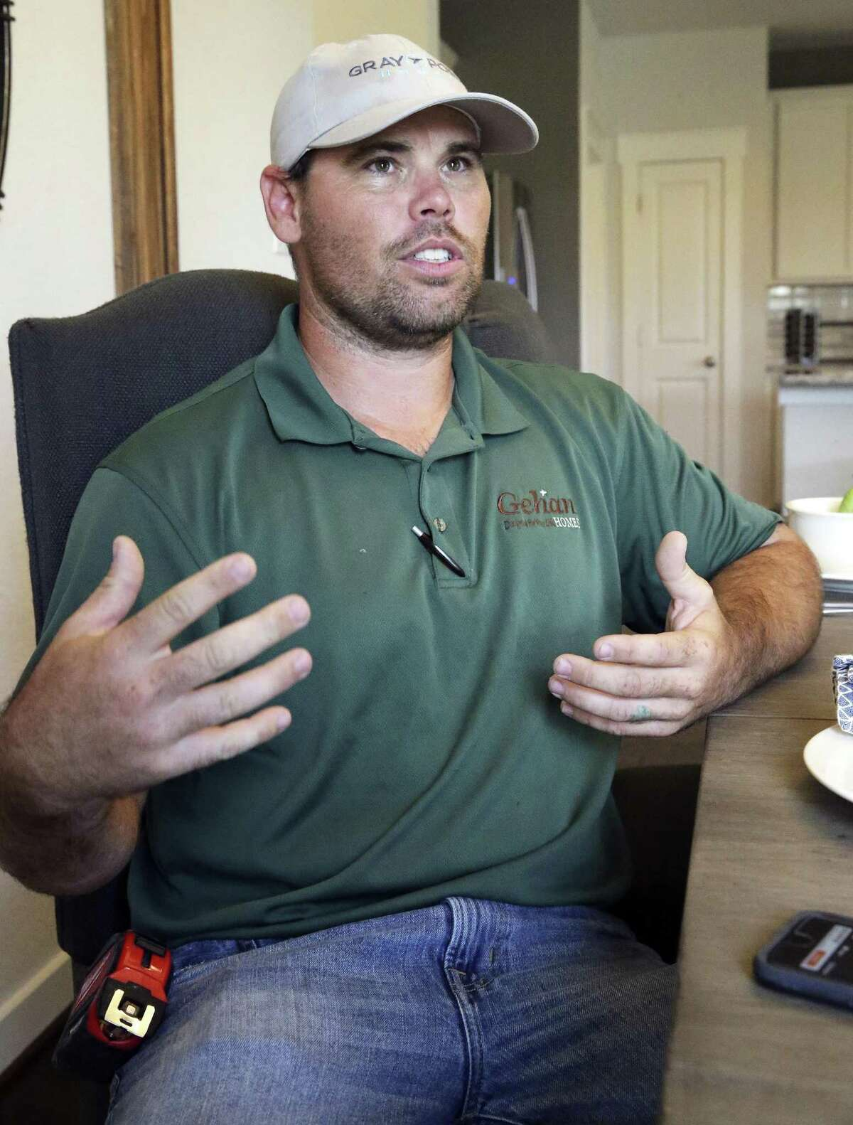 Robert Brogan of New Braunfels explains how he and others helped a truck driver out of his burning, wrecked truck on the southbound lanes of U.S. 281 in San Antonio. Brogan was interviewed Thursday, the day after the crash.