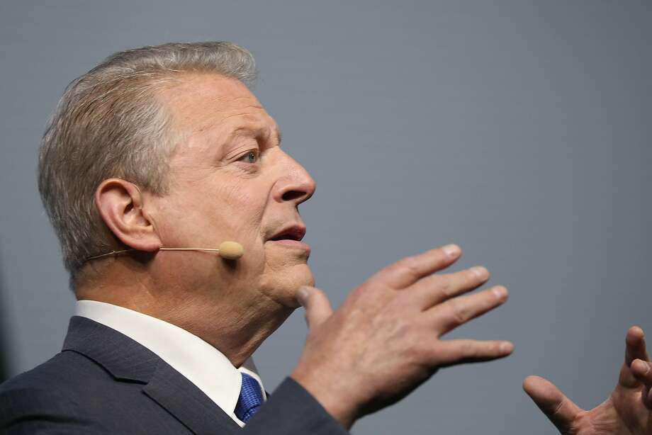 Former Vice President Al Gore speaks during the program Introducing New High Ambition Commitments, The Importance of Renewed Ambition at the Global Climate Action Summit at Moscone South on Friday, September 14,  2018 in San Francisco, Calif. Photo: Lea Suzuki / The Chronicle