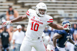 Houston Cougars defensive tackle Ed Oliver (10) during the Rice University game on Saturday, Sept. 1, 2018 in Houston. Houston Cougars won the game 45-27. Photo by Elizabeth Conley, Houston Chronicle