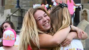 Friday was Bid Day at Union College, the last day of recruitment when 130 potential new members received bids to join one of three Panhellenic sororities on campus.