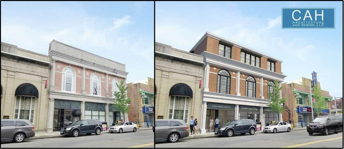 Jason Milligan, a local commercial real-estate developer, seeks to build nine apartments in the upper floor of the Fairfield County Bank building at 69 Wall St.