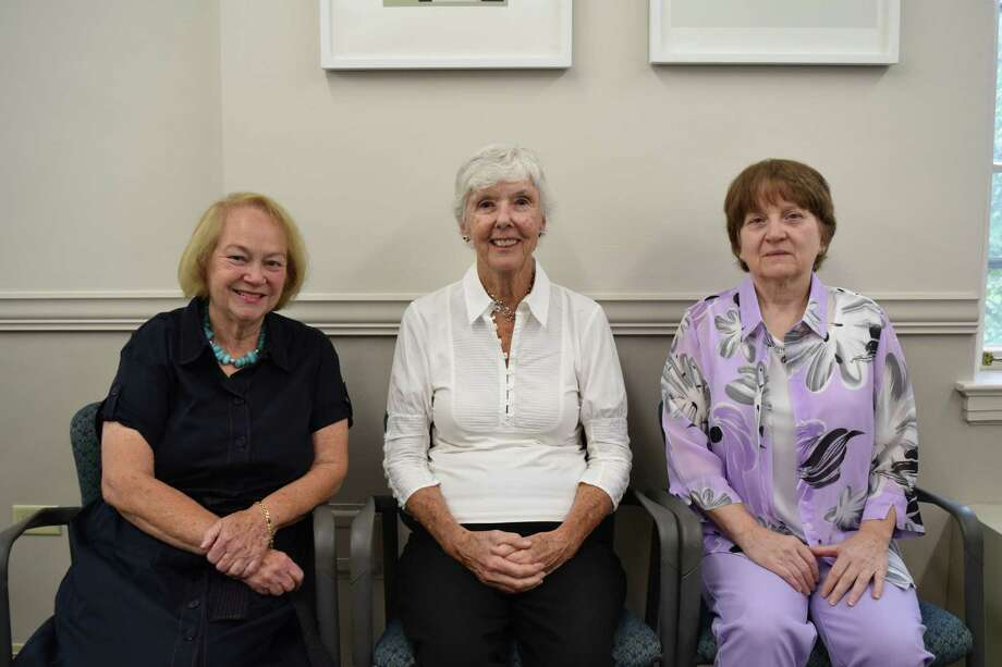 Caralyn Stevens, Pat McDonald, Linda Ziac (left to right) are new members of the Friends of Nathaniel Witherell. Photo: / Contributed