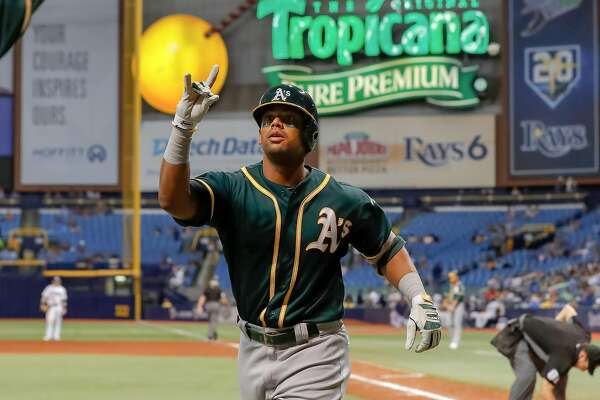 Khris Davis Homer In 10th Gives As Win Over Rays Magic