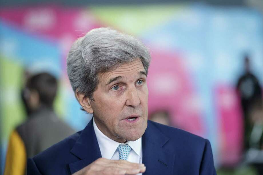 John Kerry, former U.S. Secretary of State, speaks during a Bloomberg Television interview at the Global Climate Action Summit in San Francisco, California, U.S., on Friday, Sept. 14, 2018. The Global Climate Action Summit brings together industry and political leaders working on improving the conditions and concerns facing climate in the world today. Photographer: David Paul Morris/Bloomberg Photo: David Paul Morris / © 2018 Bloomberg Finance LP