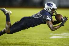 West Orange-Stark's Teshaun Teel lays out for a catch against Newton at Dan R. Hooks Stadium on Friday night. Photo taken Friday 9/14/18 Ryan Pelham/The Enterprise