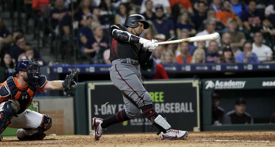 Jon Jay's pinch-hit tiebreaking triple lifts the Diamondbacks over the Astros in Houston. Photo: David J. Phillip / Associated Press