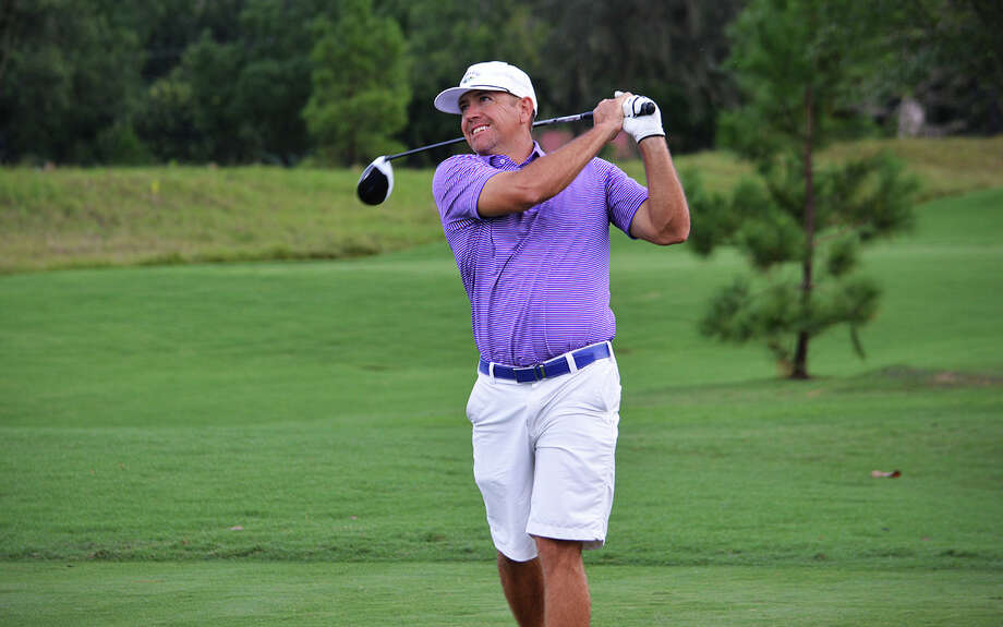 Midland's Jay McHugh competes in the first round of the 2018 Texas Mid-Amateur Championship, Friday at River Oaks Country Club. Photo: Courtesy Photo