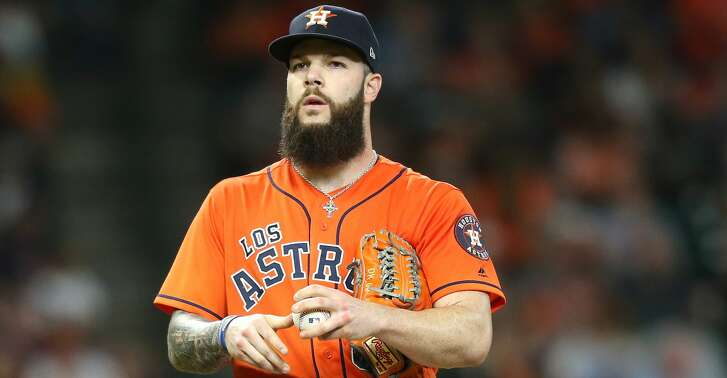 Houston Astros starting pitcher Dallas Keuchel (60) in the sixth inning against the Arizona Diamondbacks at Minute Maid Park on  Friday, Sept. 14, 2018 in Houston.