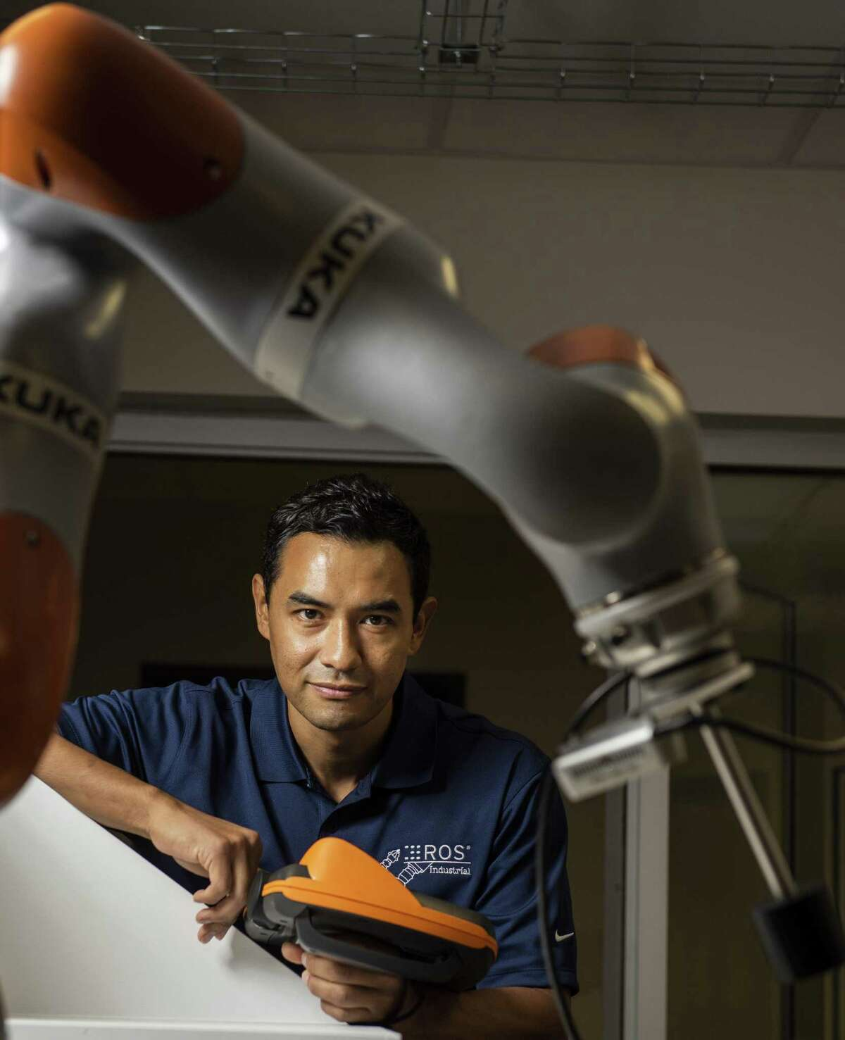 Southwest Research Institute broke ground Monday on the Supercritical Transformational Electric Power (STEP) pilot plant. It is one in a long string of innovative projects from the institute, including its work on collaborative robots, shown here with research engineer Jorge Nicho on Sept. 7.