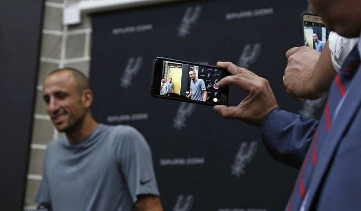 Manu Ginobili Press Conference at Spurs practice facility on Saturday, September 15, 2018.