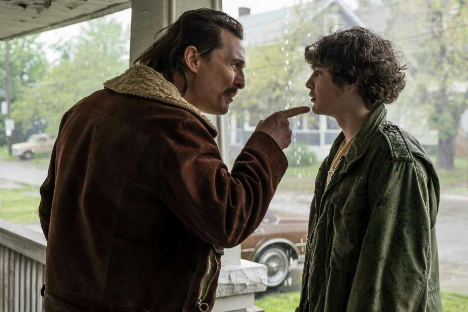 "This image released by Sony Pictures shows and Matthew McConaughey, left, and Richie Merritt in a scene from ""White Boy Rick."" (Scott Garfield/Sony/Columbia Pictures and Studio 8 via AP) Photo: Scott Garfield / © 2018 CTMG, Inc. All Rights Reserved. **ALL IMAGES ARE PROPERTY"