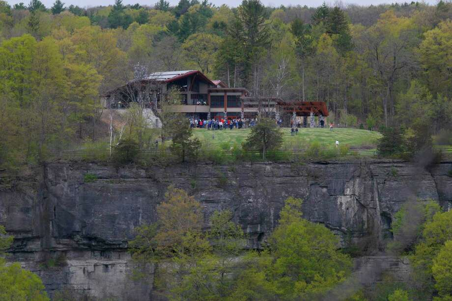A view of the  new 8,240 square-foot Thacher Park Center during a grand opening ceremony on Thursday, May 4, 2017, in New Scotland, N.Y.  (Paul Buckowski / Times Union) Photo: PAUL BUCKOWSKI / 20040411A