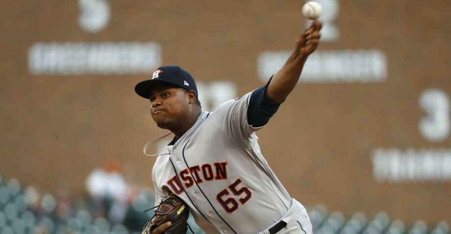 PHOTOS: Astros game-by-game Houston Astros pitcher Framber Valdez throws in the second inning of a baseball game against the Detroit Tigers in Detroit, Tuesday, Sept. 11, 2018. (AP Photo/Paul Sancya) Browse through the photos to see how the Astros have fared in each game this season. Photo: Paul Sancya/Associated Press