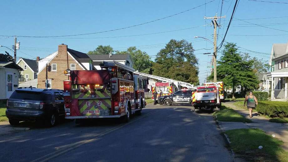 Fire crews extinguished a fire on Richards Street in West Haven, Conn., on Sept. 15, 2018. It was a two-alarm fire, officials said. Photo: Contributed Photo / CT News Alert - Facebook / Contributed Photo / Connecticut Post Contributed