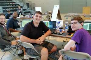 RPI students Bryan Diendonne, Olivier Poulin, Adrian Collado, and Scott Thiel were among 150 students taking part in a global competition to come up with innovative ideas for disaster relief.