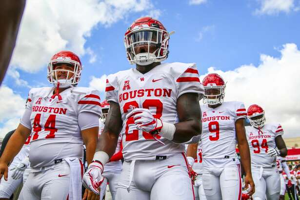 Houston players exit the field after warm-ups before playing Texas Tech in an NCAA college football game Saturday, Sept. 15, 2018, at Jones AT&T Stadium in Lubbock, Texas. [John Moore/Lubbock Avalanche-Journal via AP)