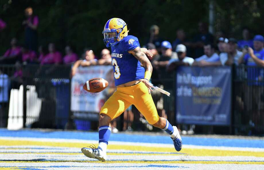 The New Haven football team beat SCSU on Saturday for its 10th win in their last 11 meetings. Photo: Clarus Studios