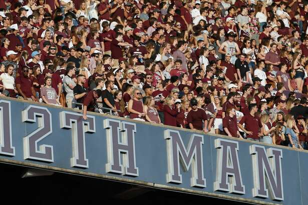 COLLEGE STATION, TX - SEPTEMBER 15: Texas A&M Aggies fans cheer on their team against the Louisiana Monroe Warhawks at Kyle Field on September 15, 2018 in College Station, Texas. (Photo by Bob Levey/Getty Images)