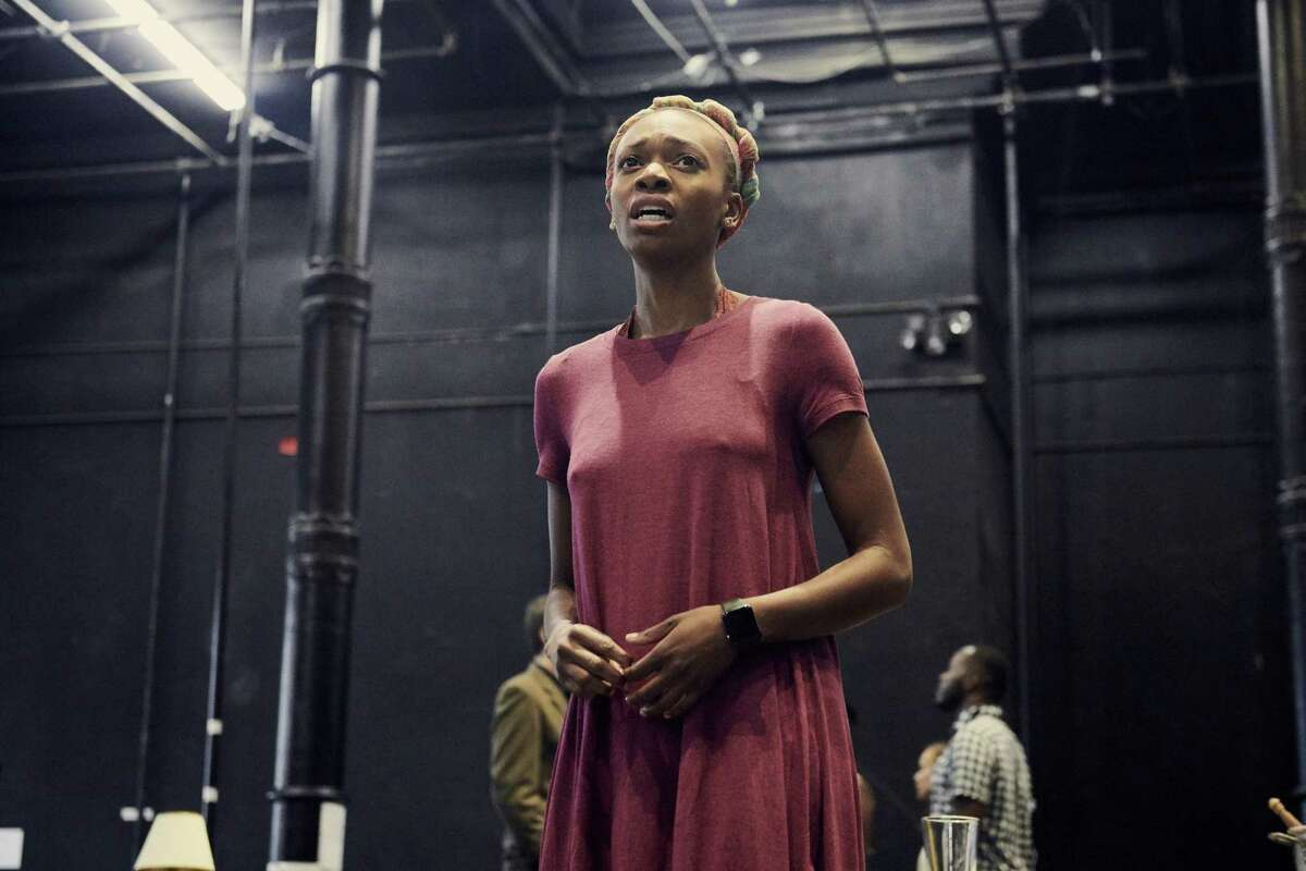 """Kimber Sprawl rehearses """"Girl From the North Country"""" at the Public Theater in New York."""