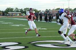 Clear Creek's Hunter Smith (11) has played quarterback, wide receiver and defensive back for the Wildcats this year.