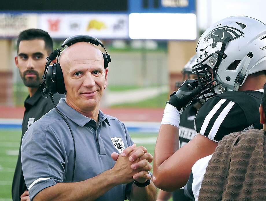 United South head football coach, Jose Coss. Photo: Cuate Santos /Laredo Morning Times / Laredo Morning Times