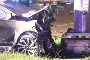 Two drivers died in a crash late Saturday in northwestern Harris County.