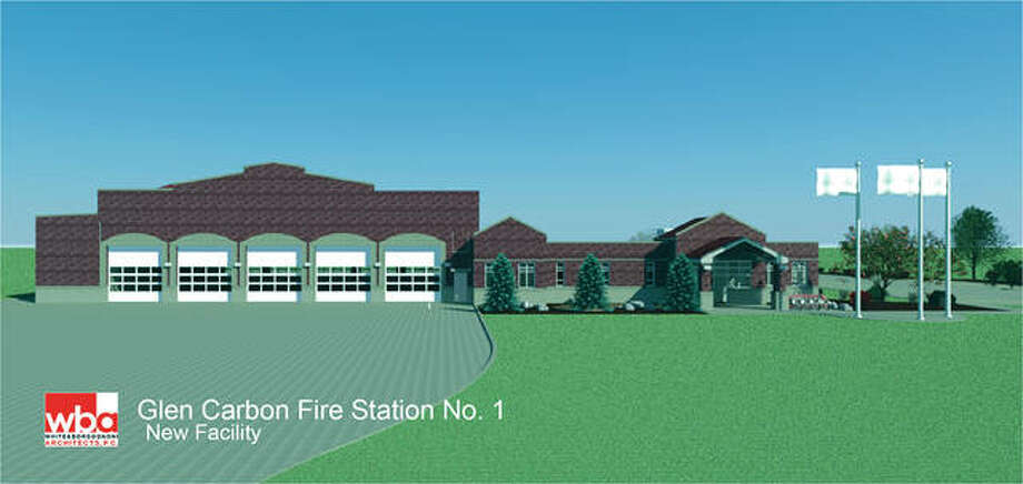 An architect's drawing of the new Glen Carbon fire station. Photo: For The Telegraph
