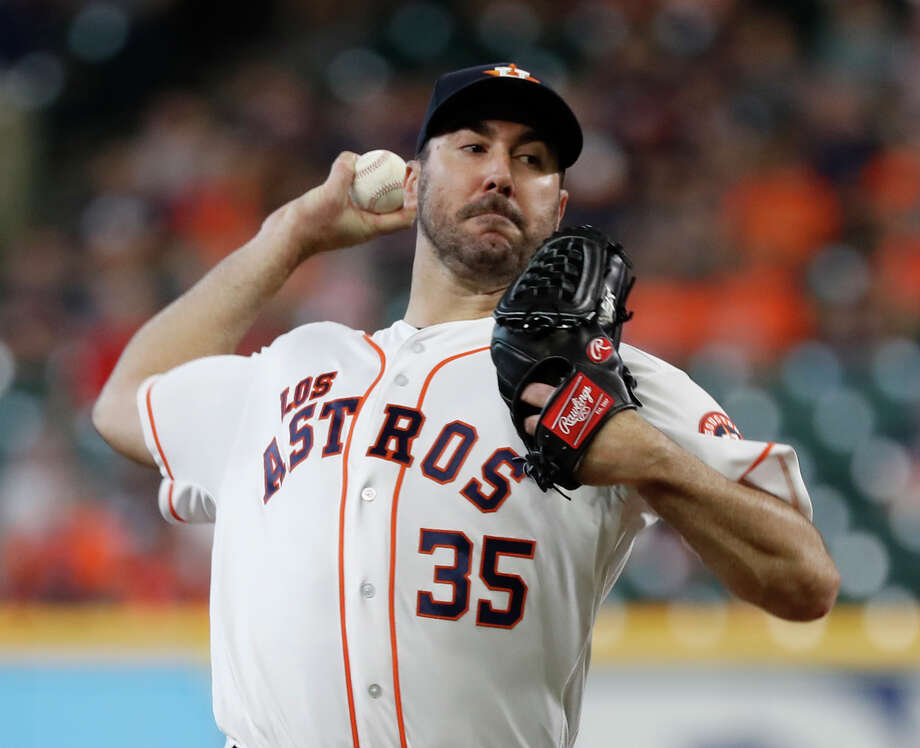 PHOTOS: Great Astros photos from this season  Houston Astros starting pitcher Justin Verlander (35) pitches during the first inning of an MLB game at Minute Maid Park, Sunday, September 16, 2018, in Houston.  >>>See some of the Chronicle's greatest Astros photos from this season ...  Photo: Karen Warren, Staff Photographer / © 2018 Houston Chronicle