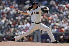 San Francisco Giants starting pitcher Dereck Rodriguez (57) throws a pitch in the first inning against the Colorado Rockies in a baseball game in San Francisco, Sunday, Sept. 16, 2018. (AP Photo/Scot Tucker)
