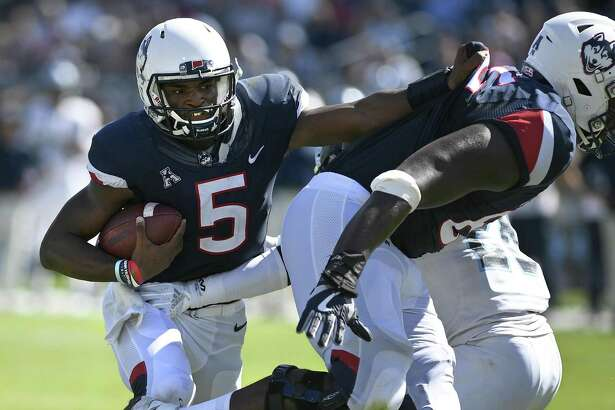 UConn quarterback David Pindell become the first Husky in the last 40 years to account for six touchdowns in a game in Saturday's win over Rhode Island.