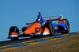 SONOMA, CA - SEPTEMBER 16:  Scott Dixon of New Zealand driver of the #9 Chip Ganassi Racing Honda during the Verizon IndyCar Series Sonoma Grand Prix at Sonoma Raceway on September 16, 2018 in Sonoma, California. (Photo by Robert Laberge/Getty Images)