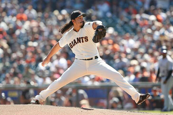 SAN FRANCISCO, CA - SEPTEMBER 16: Dereck Rodriguez #57 of the San Francisco Giants pitches in the first inning against the Colorado Rockies at AT&T Park on September 16, 2018 in San Francisco, California. (Photo by Lachlan Cunningham/Getty Images)