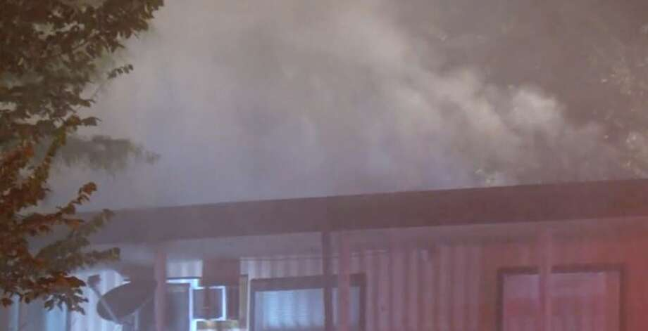 About 12 residents were displaced in a fire on East 11th 1/2 Street and Beverly on Monday, Sept. 17, 2018. Photo: Metro Video