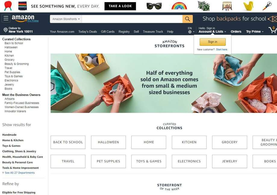 On Monday, Sept. 17, 2018, Amazon revealed a new Amazon Storefronts website featuring products from some 2,000 small- and mid-size businesses.