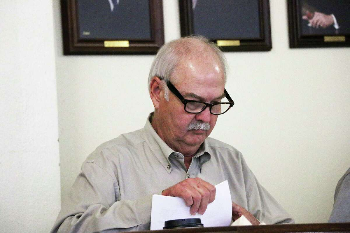 Mike McCarty has been temporarily removed from his post as Liberty County Pct. 1 commissioner. He is awaiting an appeal on criminal charges for which he was found guilty last year.