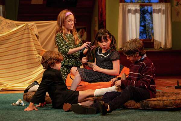 "From left, RJ Vercellone, Sloane Wolfe, Alexa Skye Swinton and Roman Malenda in ""Make Believe."""