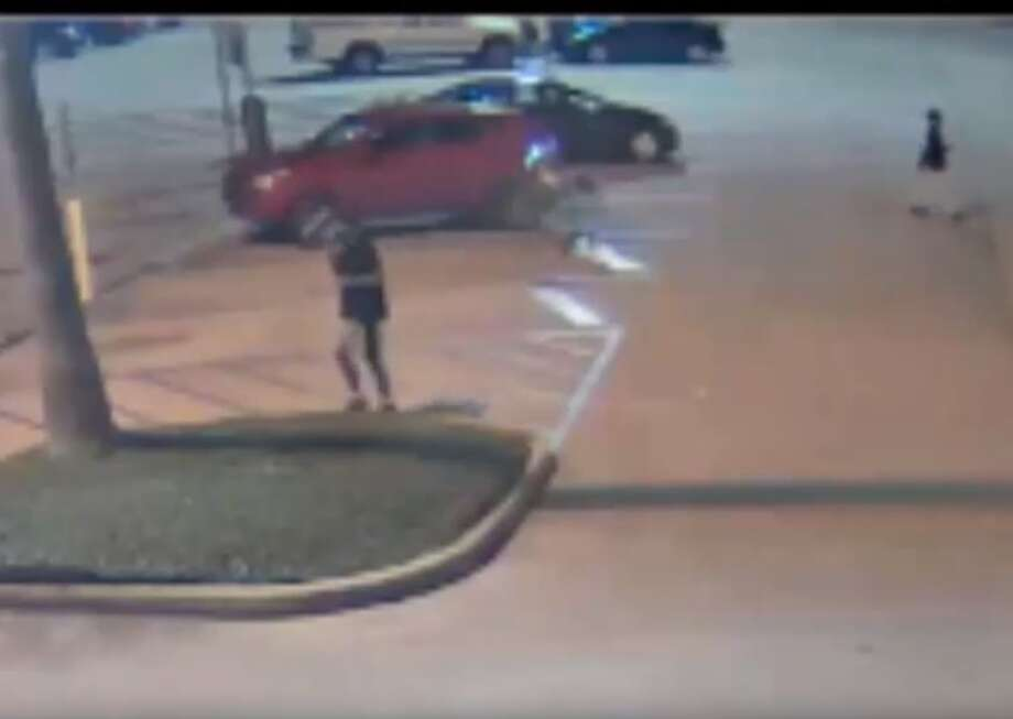 PHOTOS: Man tries to fend off attackers with pepper sprayPolice are looking for two suspects who stole a man's 2014 Ford Focus after the victim tried to fight them off with pepper spray. The two suspects are seen in the video loitering near the car before the victim walks out of the store. >>>See how the victim put up a fight before the suspects got away with his car Photo: Houston Police Department