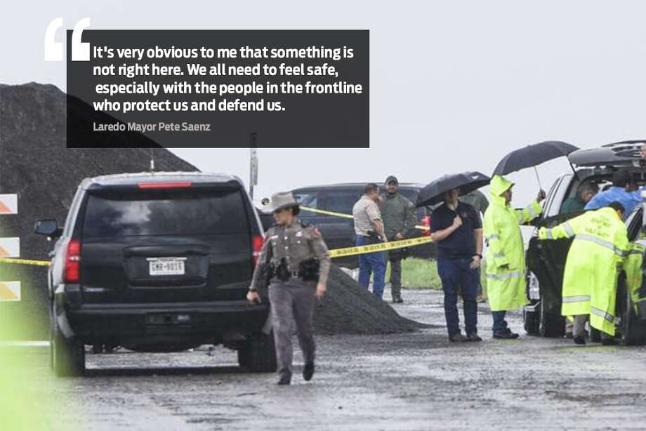Community leaders and officials weigh in on the Border Patrol agent,Juan David Ortiz,accused of killing four people in Webb County. Ortiz joins several other agents accused of serious crimes over the last six months. Photo: Laredo Morning Times
