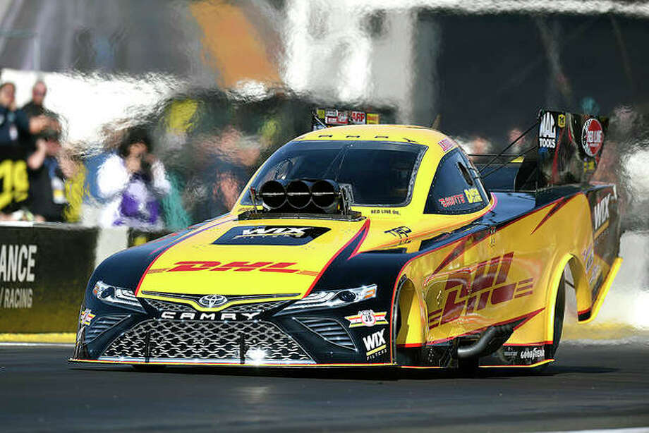 J.R. Todd won the NHRA event Sunday in Reading, Pa. and is the points leader heading to this weekend's NHRA Midwest Nationals at Gateway Motorsports Park in Madison. Photo: NHRA Photo